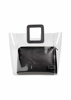 Staud Shirley Clear PVC and Leather Tote Bag