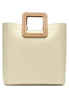 Staud Shirley crocodile-effect leather tote bag