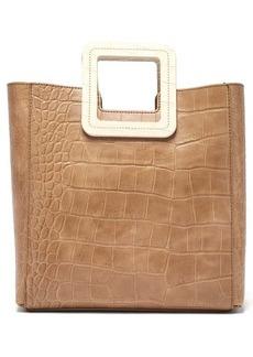 Staud Shirley crocodile-embossed leather bag