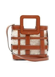 Staud Shirley mini leather and shearling bag