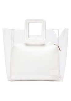 Staud Shirley PVC and leather tote bag