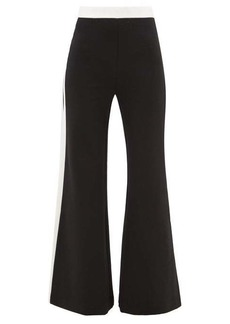 Staud Side-stripe wide-leg jersey trousers