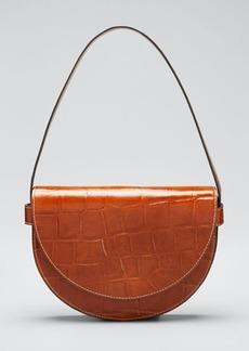 Staud Stamped Crocodile Amal Shoulder Bag