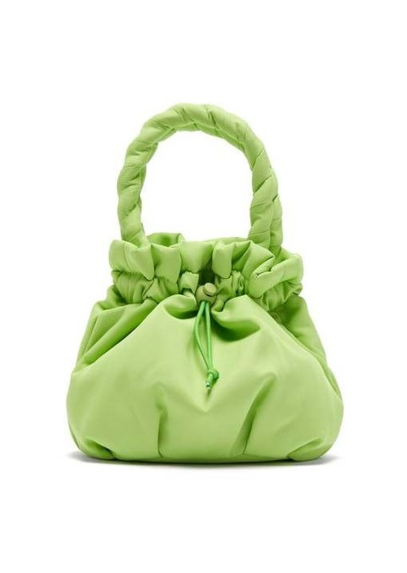 Staud Stella plaited-handle drawstring bag