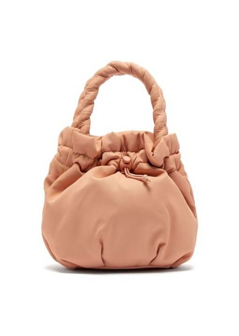 Staud Stella plaited-handle drawstring bag