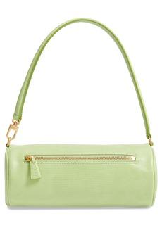 STAUD Suzy Leather Barrel Baguette Bag
