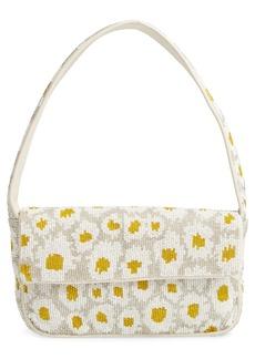 STAUD Tommy Floral Beaded Shoulder Bag