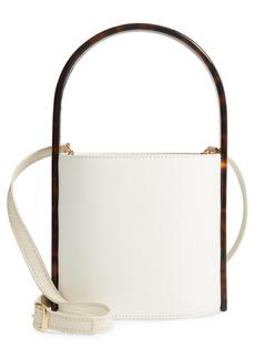STAUD Tortoise Bissett Leather Bucket Bag