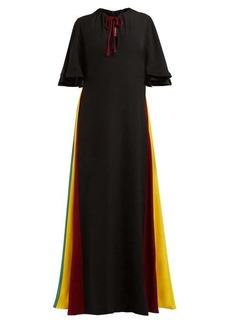 Staud Victorian rainbow-panel maxi dress