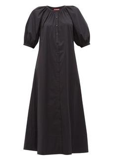 Staud Vincent cotton-poplin midi shirtdress