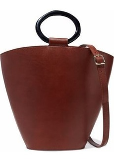 Staud Woman Seberg Leather Shoulder Bag Brick