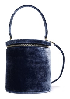 Staud Woman Vitti Velvet Bucket Bag Navy