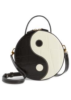 STAUD Yin Yang Leather Crossbody Bag