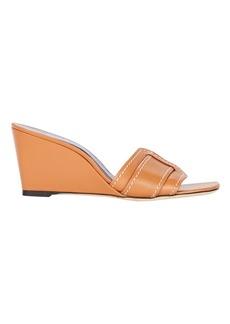 STAUD Sylvie Buckle Wedge Sandals