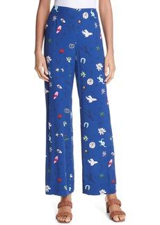 Women's Staud Bonita Print Pants