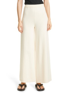 Women's Staud Mitchell Wide Leg Cotton & Wool Blend Knit Pants