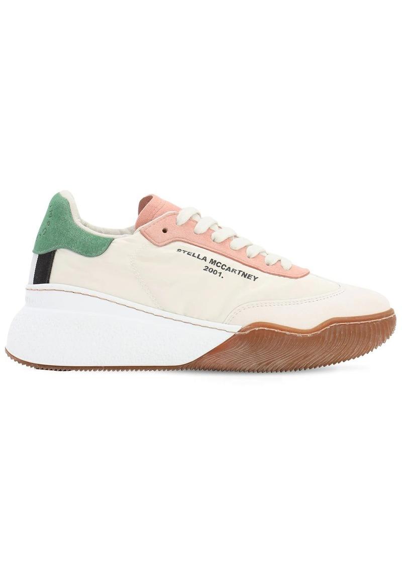 Stella McCartney 40mm Loop Nylon & Faux Leather Sneakers