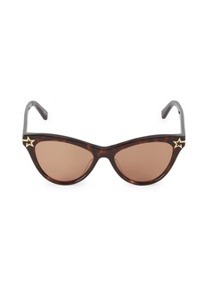 Stella McCartney 52MM Star Cat Eye Sunglasses