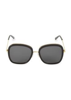 Stella McCartney 55MM Oversized Square Sunglasses