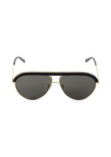 Stella McCartney 60MM Aviator Chain-Accented Sunglasses