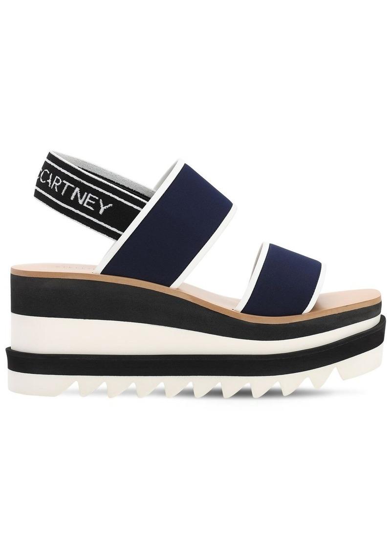 Stella McCartney 80mm Sneakelise Neoprene Wedged Sandals