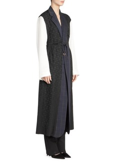 Stella McCartney Alina Mixed Media Wool-Blend Dress