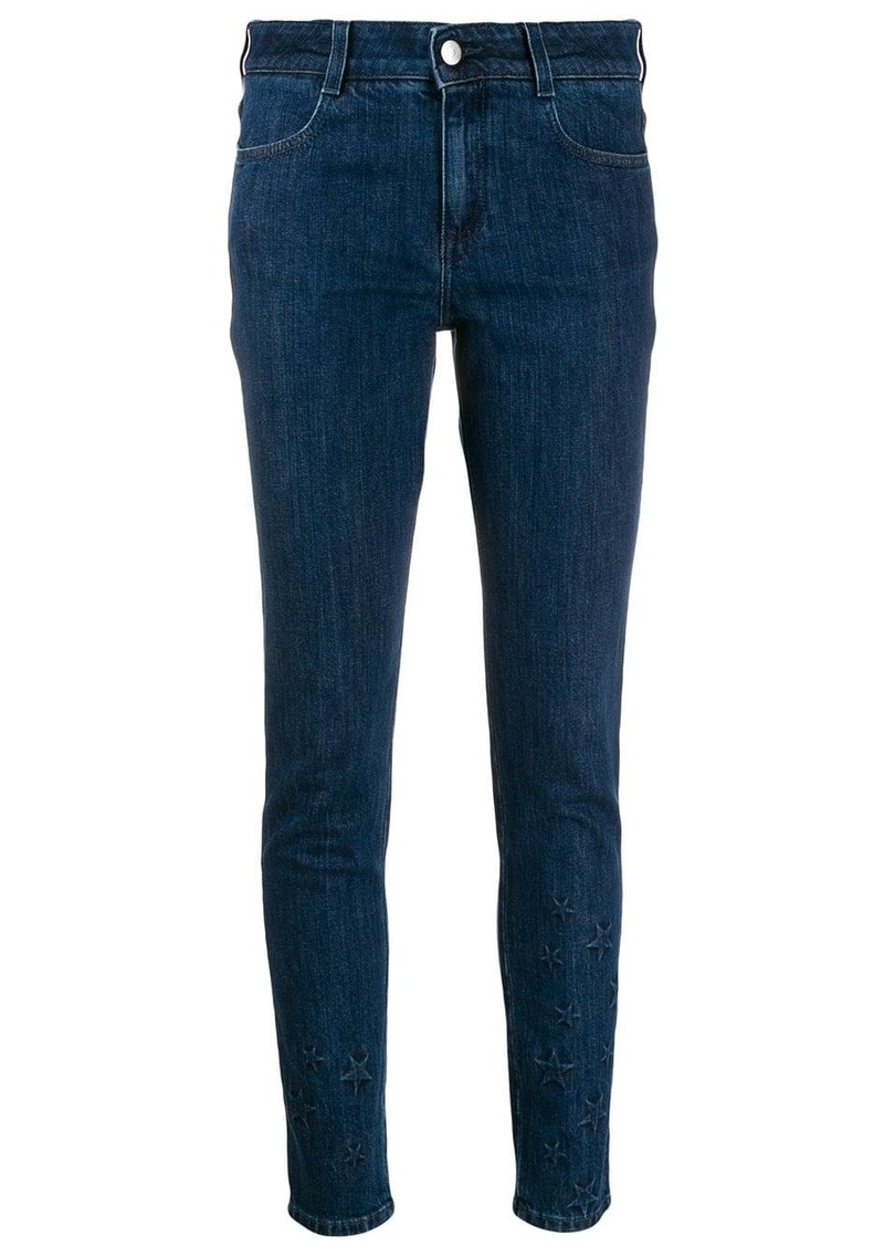 Stella McCartney All Is Love star-embossed skinny jeans