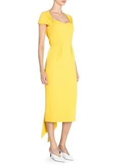 Stella McCartney Amal Stretch Cady Cap Sleeve Dress