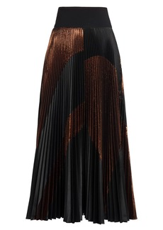 Stella McCartney Arely Pleated Lurex Maxi Skirt