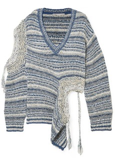 Stella McCartney Asymmetric Cutout Striped Knitted Sweater