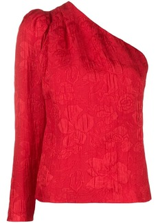 Stella McCartney asymmetric floral jacquard top