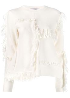 Stella McCartney asymmetric fringed knitter sweater