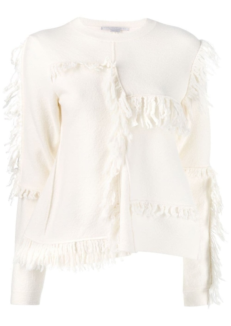Stella McCartney asymmetric fringed knitter sweater
