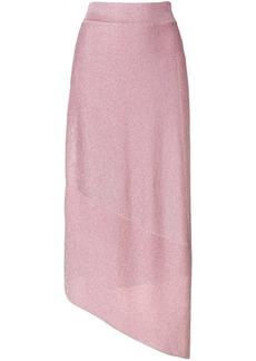 Stella McCartney asymmetric lurex skirt