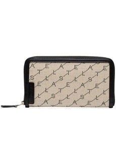 Stella McCartney Beige logo print zip wallet