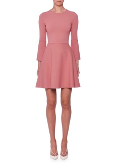 Stella McCartney Bell-Sleeve Fit-and-Flare Short Dress