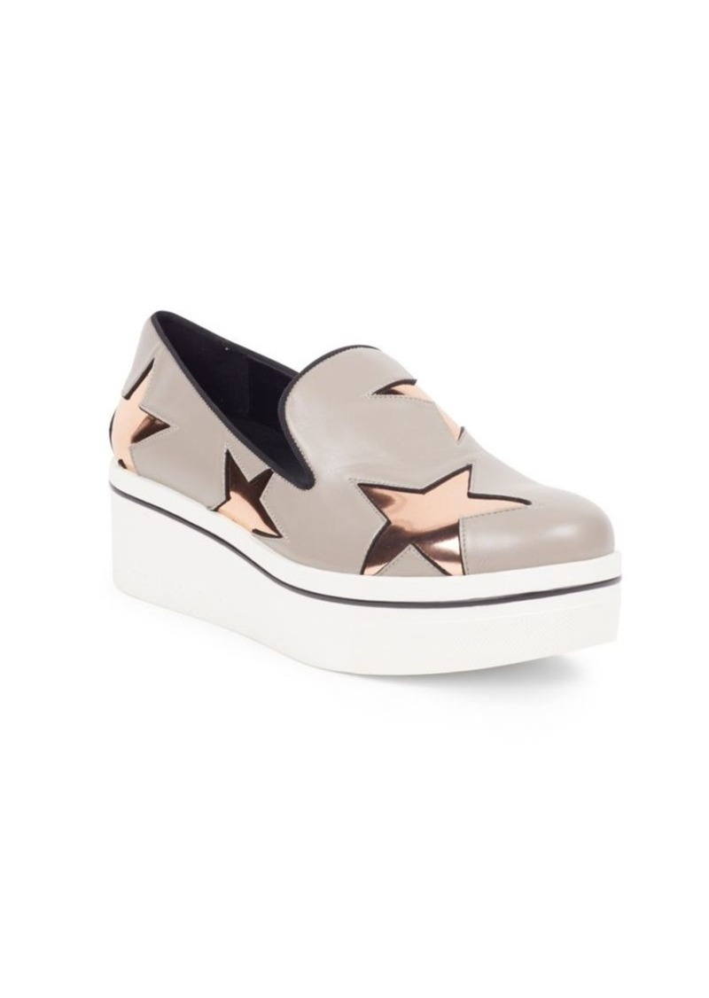 c1784f4ba00 On Sale today! Stella McCartney Binx Metallic Star Platform Loafers