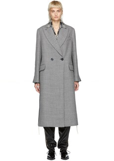 Stella McCartney Black & White Long Houndstooth Duster Coat