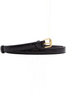 Stella McCartney Black Croc Skinny H2 Belt