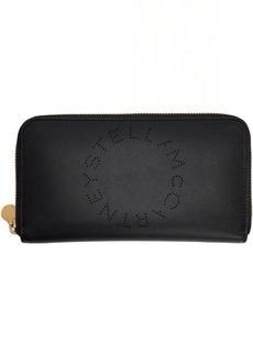 Stella McCartney Black Eco Soft Logo Zip Around Wallet