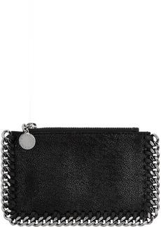 Stella McCartney Black Falabella Zip Card Holder
