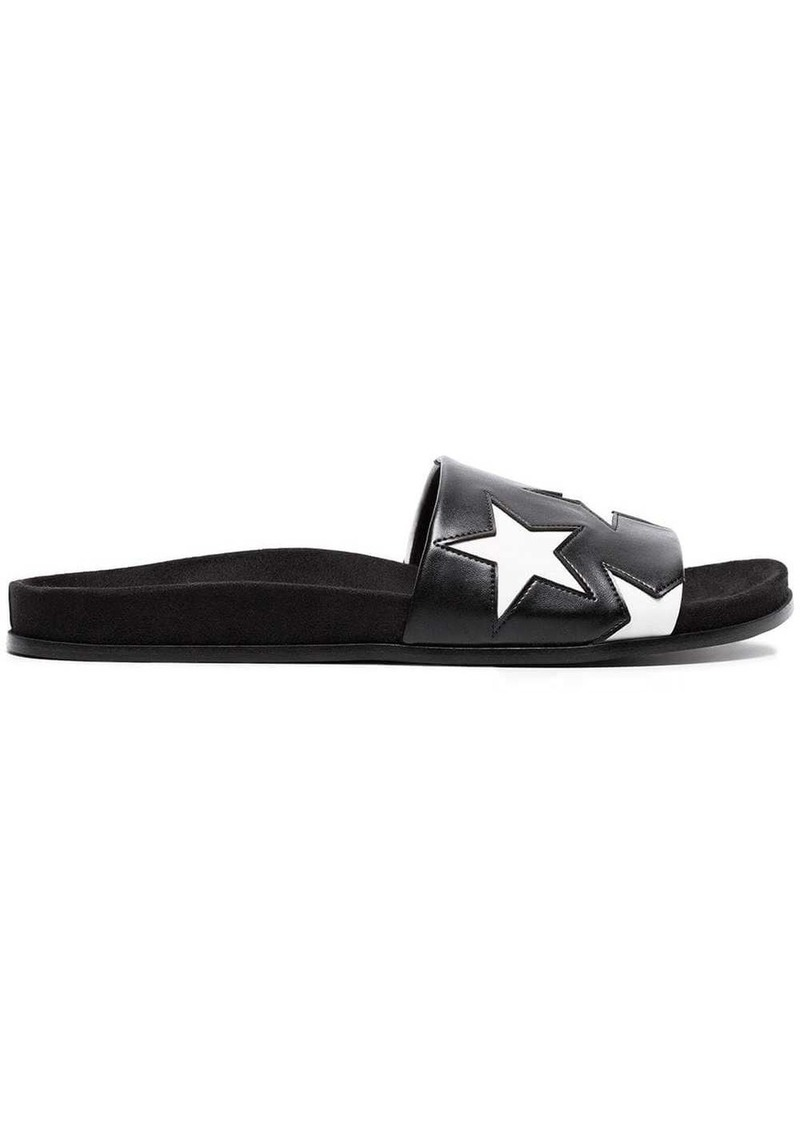 Stella McCartney Black Mule Star Slides