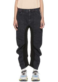 Stella McCartney Black Ruched Jeans