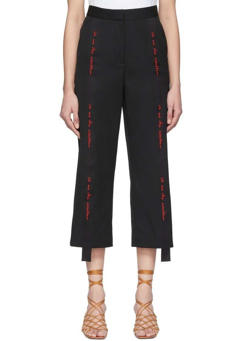 Stella McCartney Black We Are The Weather Tailored Trousers