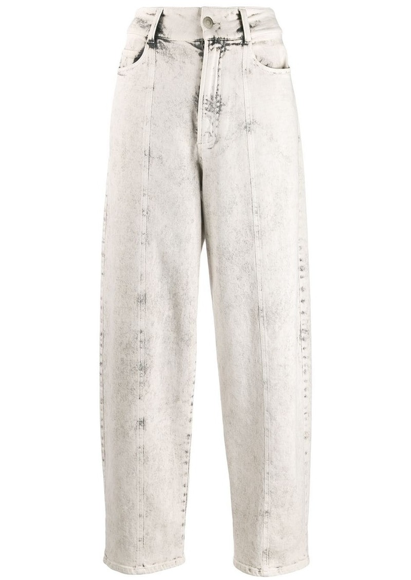 Stella McCartney bleached tapered jeans