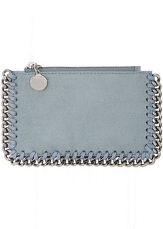 Stella McCartney Blue Falabella Zip Card Holder