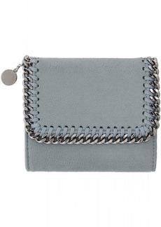 Stella McCartney Blue Small Falabella Flap Wallet
