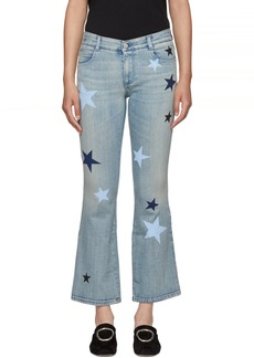 Stella McCartney Blue Stars Skinny Kick Flare Jeans