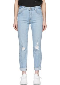 Stella McCartney Blue Straight Boyfriend Jeans