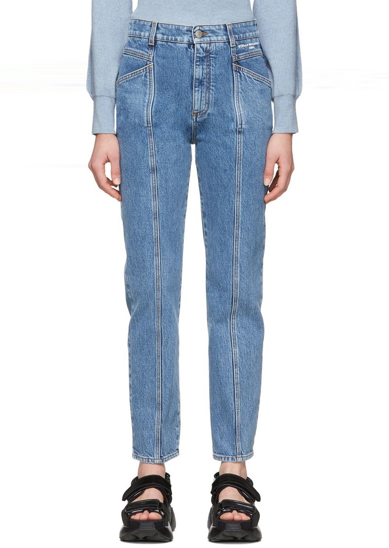 Stella McCartney Blue Vintage Wash Seam Front Jeans